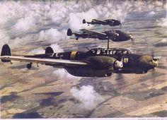 Me110 - Staffelflug,  Messerschmitt Bf 110 patrol.