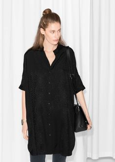 & Other Stories | Oversized Shirt Dress | @andwhatelse