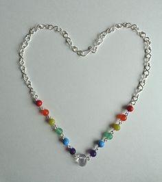 Seven Chakras Necklace Gemstones Necklace by IrisJewelryCreations