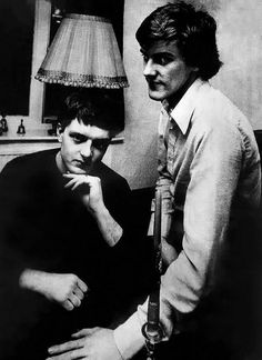 Rare photo of Ian Curtis and Stephen Morris. <3 <3 (Corris)