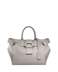 Pilgrim de Jour Small Shopping Tote Bag, Gray by Roger Vivier at Bergdorf Goodman.