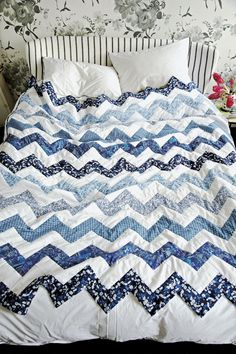 Liberty Chevron Quilt & The Lberty Book of Simple SewingMade Peachy