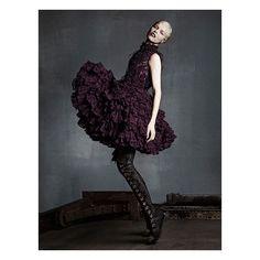 """Alexander McQueen AW14 featured in @VogueJapan  Model: @Evaherzigova Photographers: @luigiandiango Stylist: #GiovannaBattaglia  #AlexanderMcQueenArchive"""