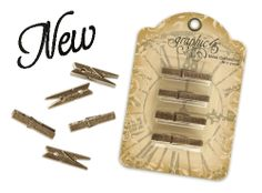 Graphic 45 metal clothespins: Remember, Timeless, Create or Unique Graphic 45, Clothespins, Bookends, Create, Metal, Unique, Decor, Clothes Pegs, Decoration