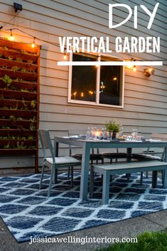 Learn to build a DIY vertical garden for herbs succulents or other plants with this easy step-by-step tutorial! This is the perfect way to dress up a wall fence or side of a building. Decor Style Home Decor Style Decor Tips Maintenance Outdoor Spaces, Outdoor Living, Outdoor Decor, Outdoor Wood Stain, Vertical Garden Diy, Vertical Gardens, Oasis, Patio Makeover, Plant Shelves