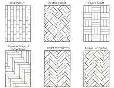 ceramic tile patterns | sub floor laying designs straight english pattern heringbone squares ...