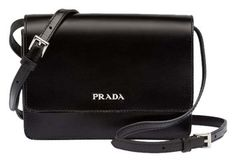 Prada Box Calf Leather Cross Body Bag