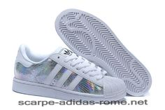 detailed look 0ee18 3f562 Adidas Uomo Donna Superstar II (Bianche Multicolor) M20904 Scarpe (Adidas  italia)