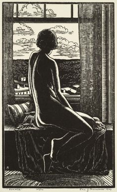 Summer, Woodcut, 1929 // by Leo John Meissner