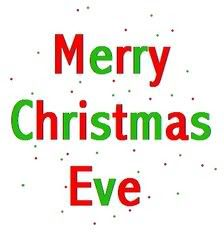 merry christmas eve or happy