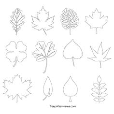 Printable Leaf Cut Out Templates