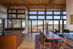 Love the wood, cedar kitchen, wooden windows and wooden ceilings