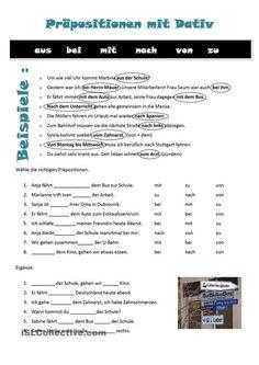 genitiv ubungen und pr positionen deutsch grammatik pinterest german grammar deutsch and. Black Bedroom Furniture Sets. Home Design Ideas