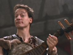 Joxer ( Ted Raimi ) Xena Warrior Princess...had his own theme song. If I concentrate really hard I could probably remember the words.