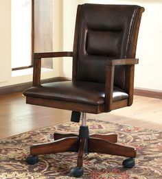 Wooden Swivel Office Chair - Furniture for Home Office Check more at http://www.drjamesghoodblog.com/wooden-swivel-office-chair/