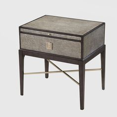 AH Signature side tableAn elegant accent piece that shows the use of different materials.