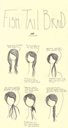 """HAIR HOW TO: FISHTAIL BRAID I can not tell you how many compliments I receive when I wear my hair in a side swept fishtail braid. I often get asked """"how do you do that!?!?"""" and my answer is that it is easier than it seems (seriously). Tips: for a tighter fishtail use smaller sections crossed over. For that fabulous messy look place your hair tie low on the bottom and gently pull on the body of the braid to create an effortless feel."""