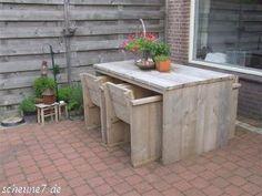 Popular Bank aus recyceltem altem Bauholz Ger stbaubretter Tables Woods and Interiors