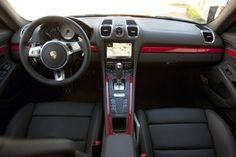 Nice Porsche: 2014 Porsche Cayman S interior. Love the black and red...  Cars and Motorcycles