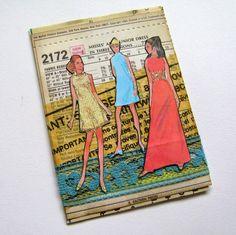 ATC Theme: Vintage Dress Patterns