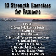 Building a strong base, running hills, long runs and speed work are all important things for a runner's training. But another important part of a runner's training that is sometimes if not always neglected is strength training.
