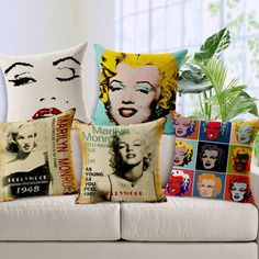 Set of 5 Vintage Marilyn Monroe Cushion Covers ( Limited Edition )