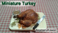 Tutorial on how to make your own miniature roasted turkey from polymer clay - 1:12 scale dollhouse miniature