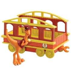 Dinosaur Train - Collectible Conductor With Train Car by Rc2. $12.95. From the Manufacturer                Based on the new Henson PBS show, the Dinosaur Train collectible segment enables children to collect all of their favorite Dinosaur Train characters, while also expanding their train set. Conductor Troodon is one of the smartest dinosaurs and he isn't afraid to show it. He is the conductor of the most awesome train of all, the Dinosaur Train and is the one who provides B...