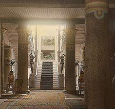 Shepheard's Hotel (1900)  Cairo, Egypt - The hall