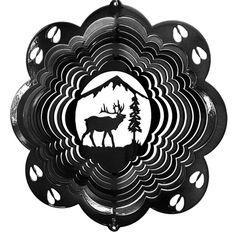 """12"""" Elk - Black Starlight Wind Spinner"""