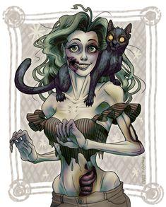 Miss Zombie by B1nd1.deviantart.com on @deviantART