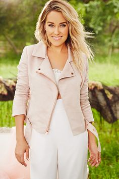Add a fashionable edge to your outfit with this women's LC Lauren Conrad Runway Collection jacket. Rich faux-suede construction and motorcycle styling combine for a modern look and feel. Lauren Conrad Style, Suede Moto Jacket, Leather Jacket, Outfit Trends, Outfit Ideas, Pink Jacket, Fancy, Swagg, Her Style