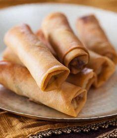 Chinese Spring Rolls with Chicken Recipe | Steamy Kitchen