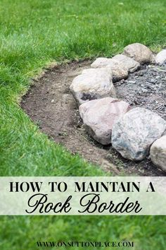 Easy step-by-step that shows how to maintain a garden rock border.