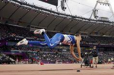Finland's Tero Pitkamaki in action in the men's javelin final