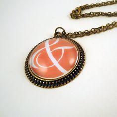 Ampersand Necklace - Emberglow Pink Bronze Jewelry
