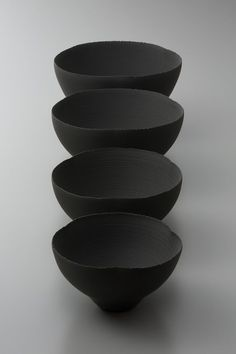 black Japanese ceramics