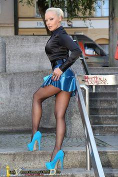 "satinlover on Twitter: ""lady Vanessa in black satin blouse https://t.co/ZoLVQjx6wK"""
