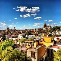 View of lovely San Miguel de Allende, from the Rosewood Hotel