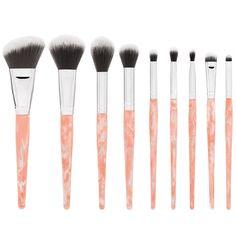 BH Cosmetics: Rose Quartz – 9 Piece Brush Set #BHCosmetics
