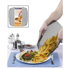 Quickafries Large Oven Cooking Mesh Mat  Crispier Fries Bread Pastries >>> Details can be found by clicking on the image.