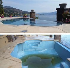 Looking to do a swimming pool renovation? Pebble Tec can give your pool a whole new look. Credits go to Gene Brown certified Pebble Tec installer Best Swimming, Swimming Pools, Pool Plaster, Montreal, Vancouver, Toronto, Canada, Victoria, Outdoor Decor