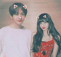 Taehyung x Lisa Kpop Couples, Cute Couples, Jimin Jungkook, Taehyung, Kpop Girl Groups, Kpop Girls, Sisters Tumblr, Gfriend And Bts, Bts Girlfriends
