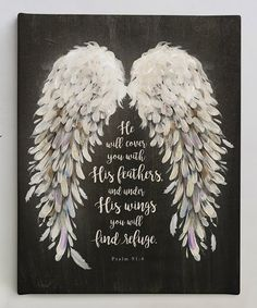 Add some inspiration to the walls of your home by hanging this wrapped canvas designed with a message of faith. Psalm 91 4, Psalms, Scripture Verses, Bible Verses Quotes, Bible Scriptures, Soul Love Quotes, True Quotes, Planet Love, Under His Wings
