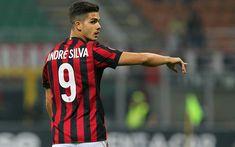 Descargar fondos de pantalla 4k, André Silva, futbolistas, el AC Milan de la Serie a, el partido, el fútbol, los Rossoneri