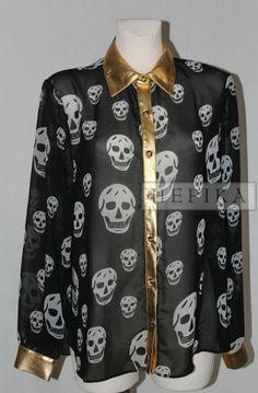 Czarna koszula czaszki - sklep internetowy HEPIKA