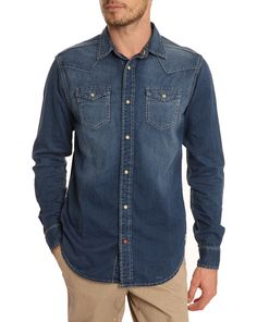 Blue Denim Shirt by Scotch & Soda
