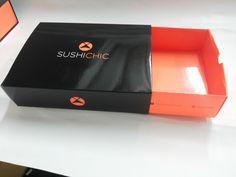 Caixa em tríplex com laminação BOPP brilho tipo gaveta, mais um modelo para SushiChic. Venha conhecer nosso linha de produtos! -SeeYou-