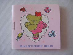 Sanrio Robearta Mini Sticker Book Dance Vintage Collectible 1976, 1990 NEW