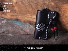 New Arrival : Tenjin Works - Bangkok, Thailand Leather Cigarette Case, Minimalist Leather Wallet, Lighter Case, Handmade Leather Wallet, Leather Crafts, Leather Wallets, Holsters, Wallet Chain, Bangkok Thailand